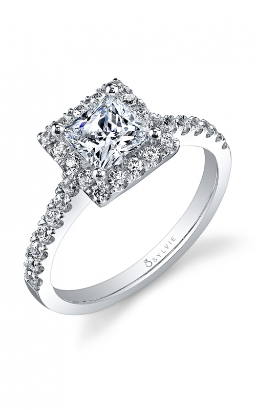 Sylvie Halo Engagement ring SY999-041A8W10P product image