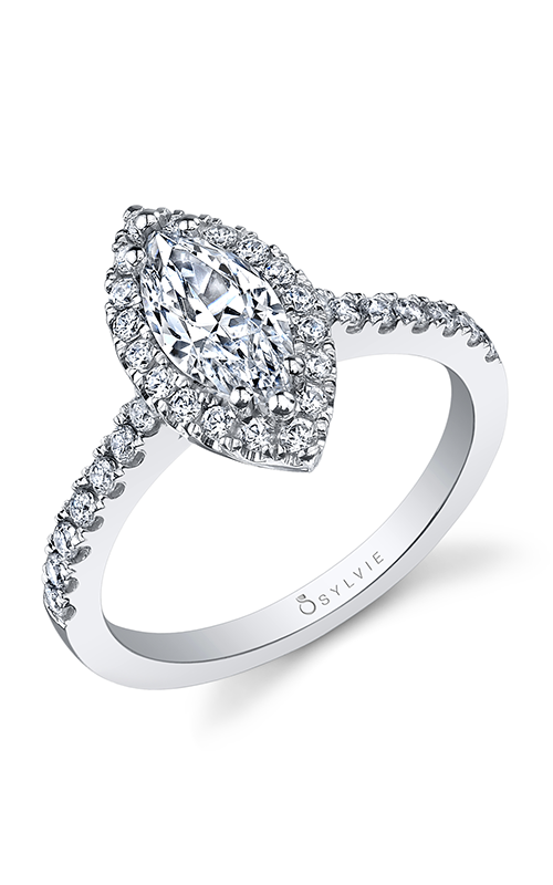 Sylvie Halo Engagement Ring SY999-44A8W105M product image