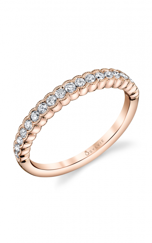 Sylvie Wedding band B0010 ROSE product image