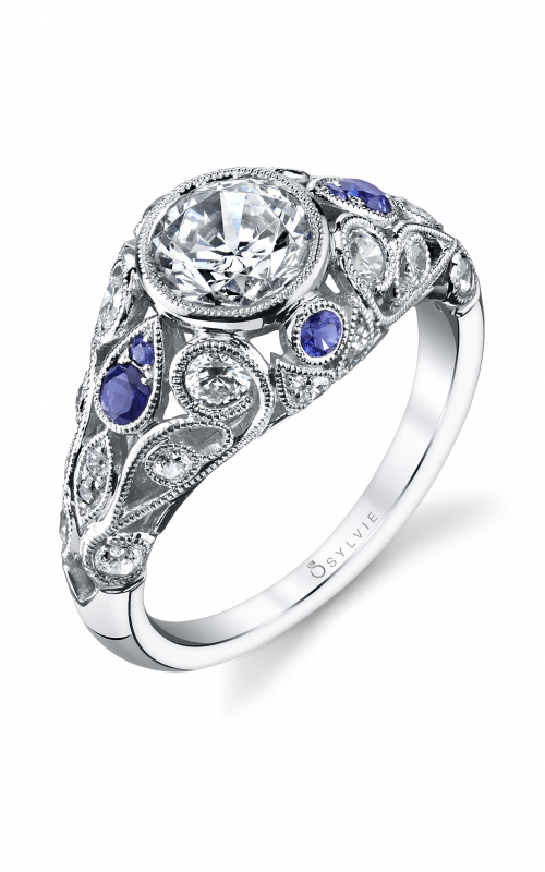 Sylvie Sidestone Engagement ring S4108-085A8W10R product image