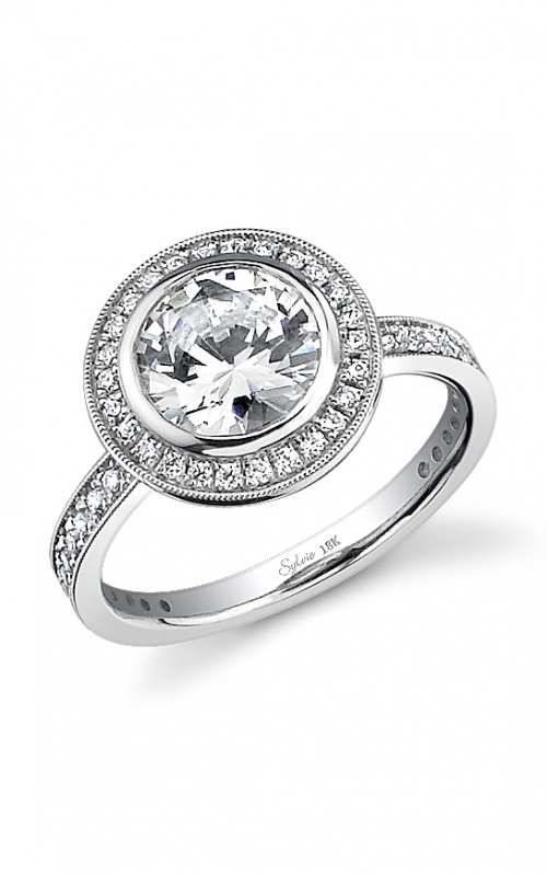 Sylvie Halo Engagement ring SY280-0048/A8W product image