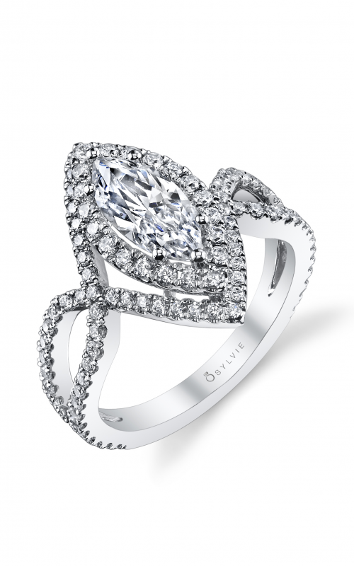 Sylvie Halo Engagement ring SY304-078A8W15M product image