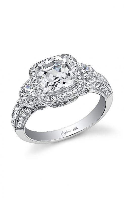 Sylvie Three Stone Engagement ring SY474S-0068/A8W product image