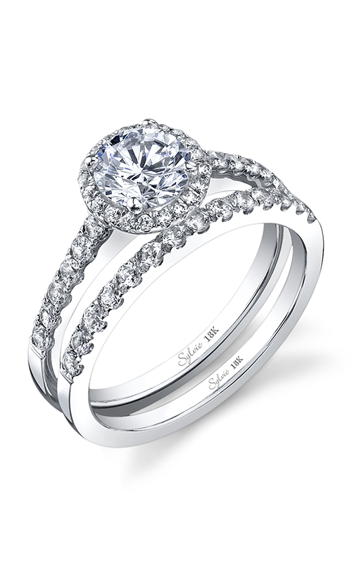 Sylvie Halo Engagement ring SY697-0034/A8W product image