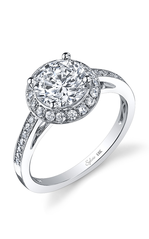 Sylvie Halo Engagement ring SY848-032A8W15R product image