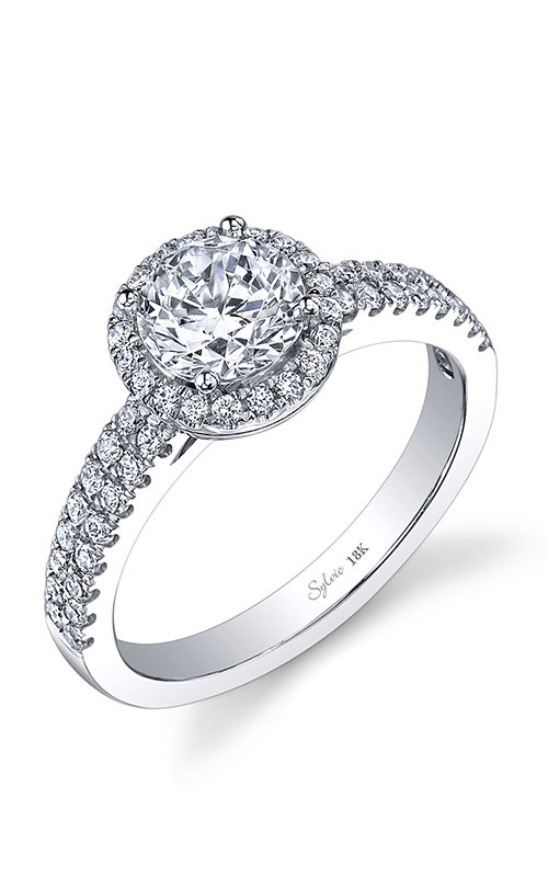 Sylvie Halo Engagement ring SY854-041A8W10R product image