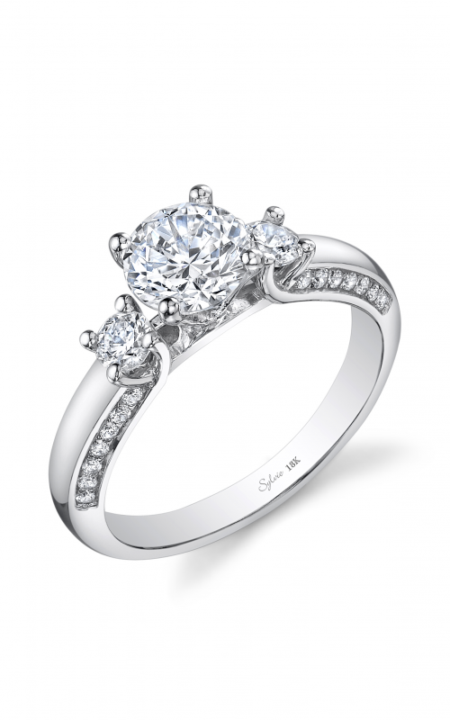 Sylvie Three Stone Engagement ring SY954S-40A8W10R product image