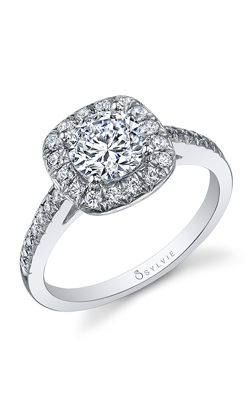 Sylvie Halo Engagement ring SY995-033A8W10R product image