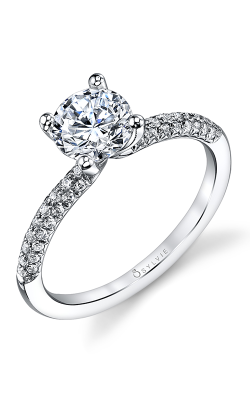 Sylvie Sidestone Engagement Ring S1147-030A8W10R  product image