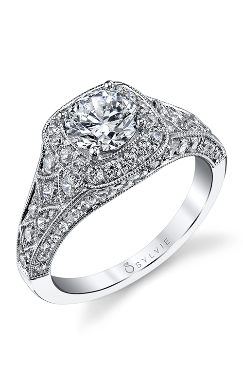 Sylvie Halo Engagement ring S1210-119A8W10RC product image