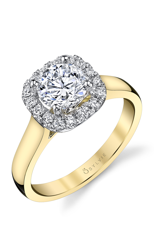 Sylvie Halo Engagement Ring SY756-28A8T10RC product image