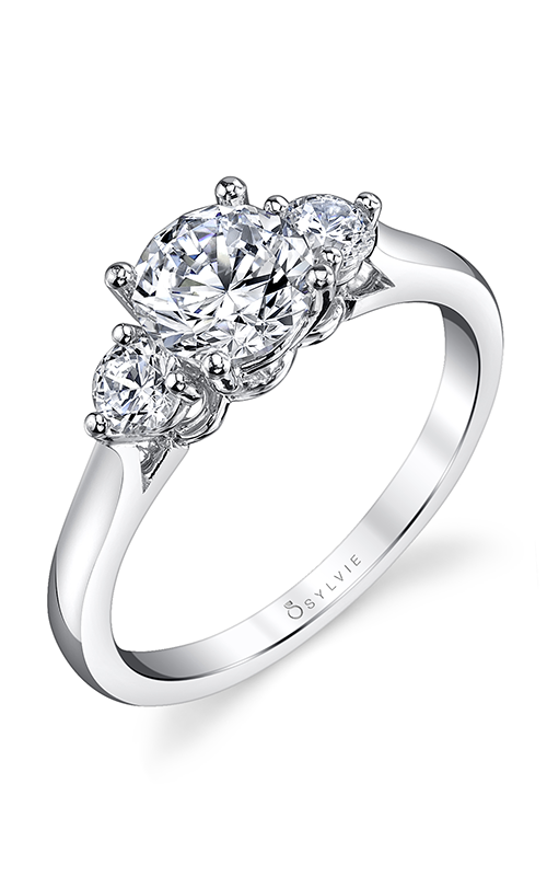 Sylvie Three Stone Engagement ring S3001S-31A8W10R product image