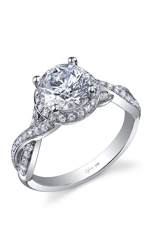 Sylvie Halo Engagement ring SY830-033A8W15R product image