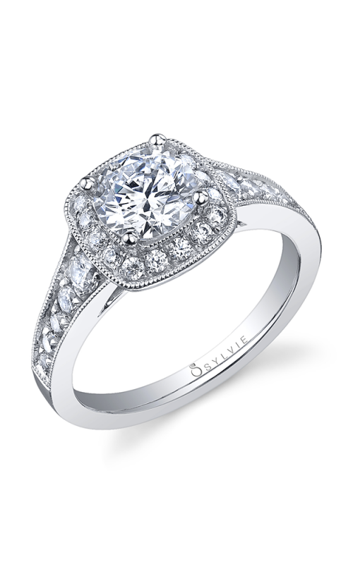 Sylvie Halo Engagement ring S1003-058A8W10R product image