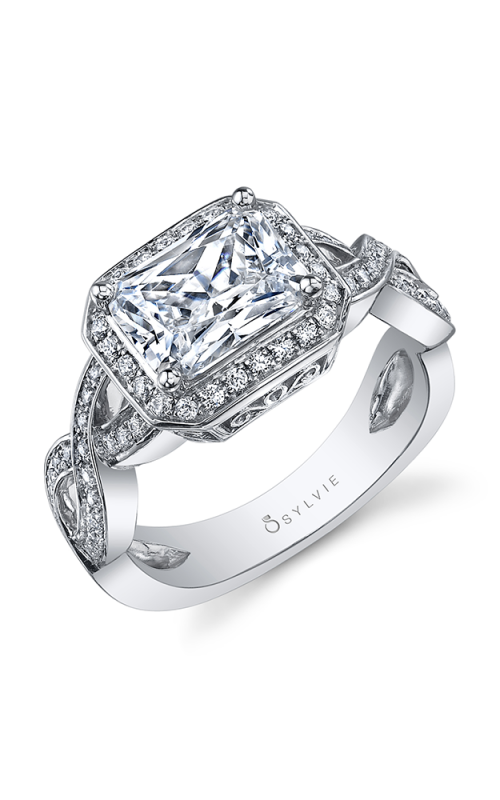Sylvie Halo Engagement ring SY991-047A8W86E product image