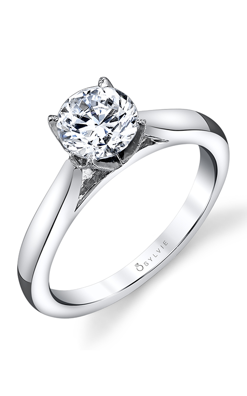 Sylvie Solitaire Engagement ring S1300-019A8W10R product image