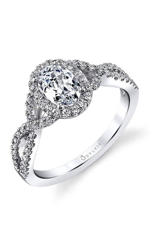 Sylvie Halo Engagement Ring SY260-042A8W10O product image