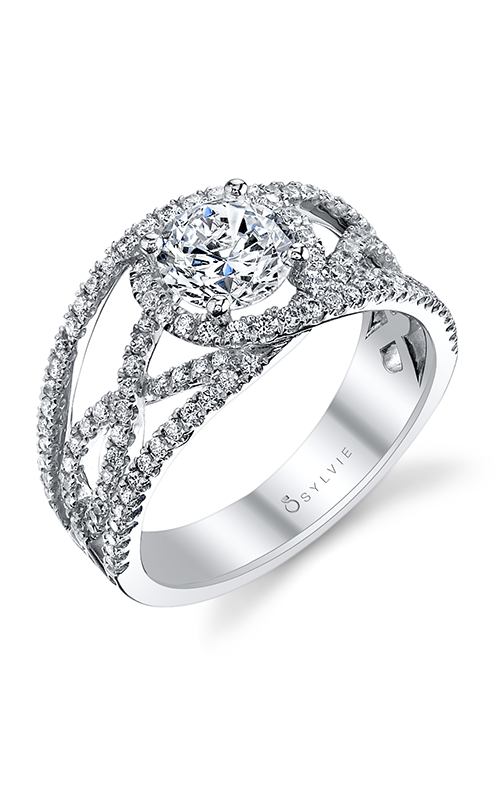 Sylvie Halo Engagement ring S1138-069A8W10R product image