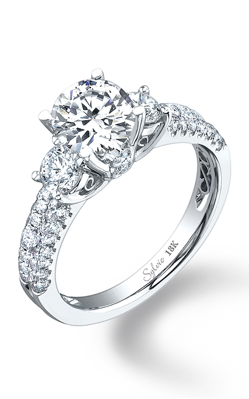 Sylvie Three Stone Engagement ring SY125S-0078/A8W product image