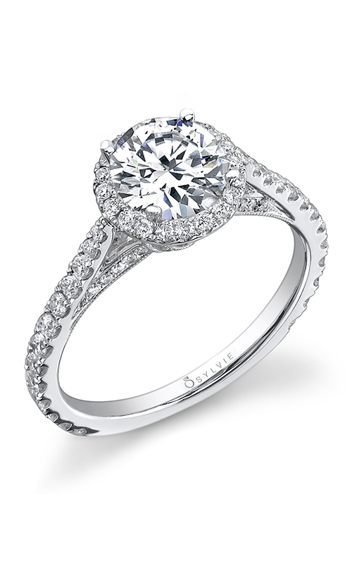Sylvie Halo Engagement ring SY156-0064/A8W product image