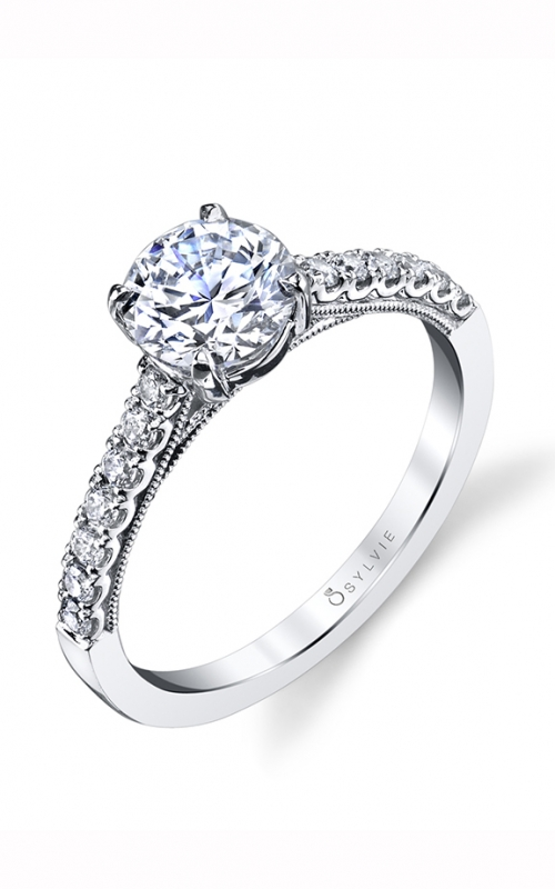 Sylvie Sidestone Engagement ring S1535-023A8W10R product image