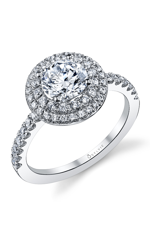 Sylvie Halo Engagement ring S1086-051APL10R product image