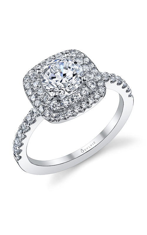 Sylvie Halo Engagement ring S1097-055A4W10R product image
