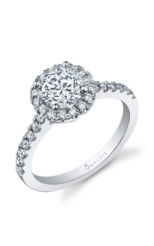 Sylvie Halo Engagement ring SY999-041APL10R product image