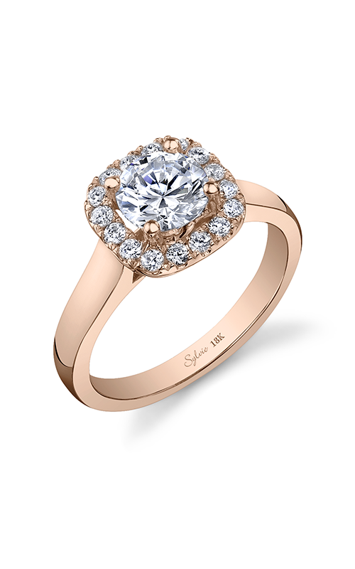 Sylvie Halo Engagement ring SY756-0028/A8W product image