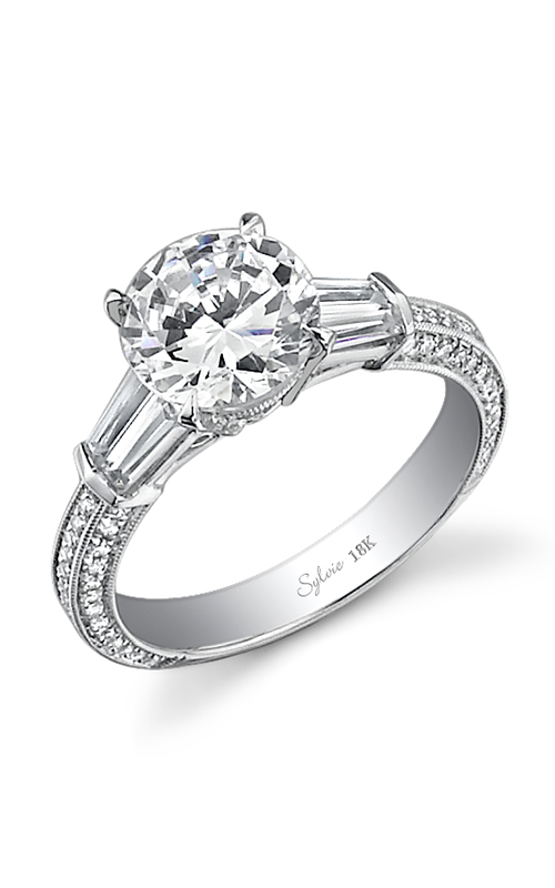 Sylvie Three Stone Engagement ring SY331S-0100/A4W product image