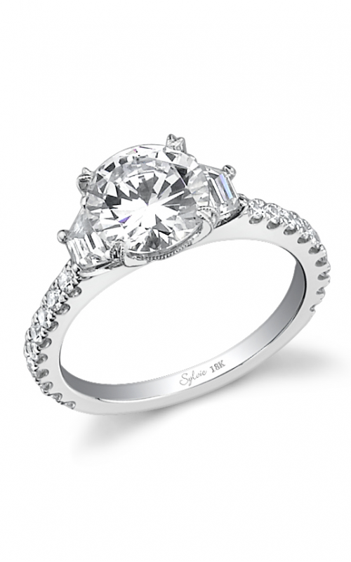 Sylvie Three Stone Engagement ring SY477S-0070/AP product image