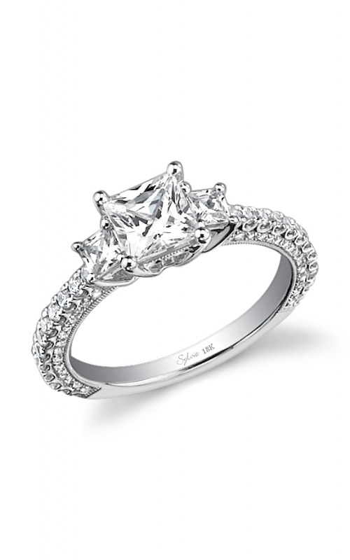 Sylvie Three Stone Engagement ring SY435S-0076/A4W product image