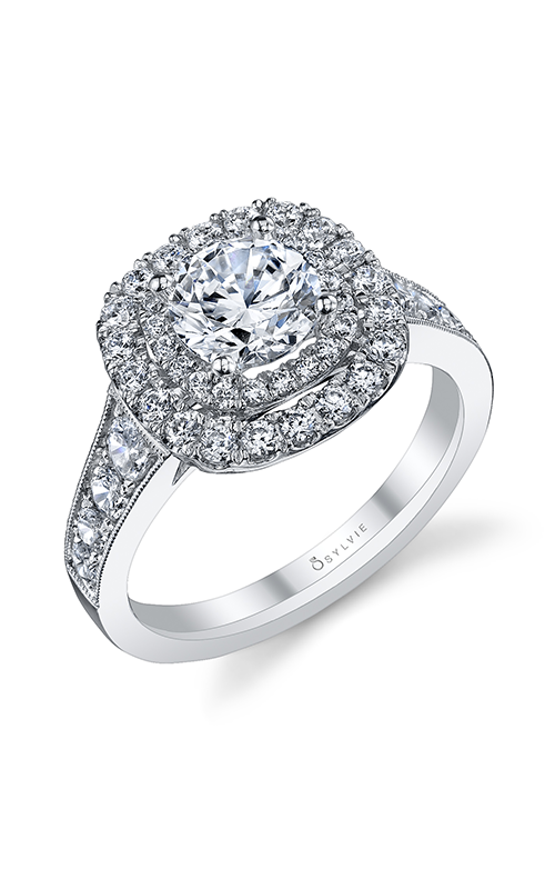 Sylvie Halo Engagement ring S1081-095A4W10R product image