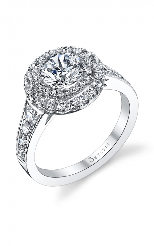 Sylvie Halo Engagement ring S1119-088A4W10R product image