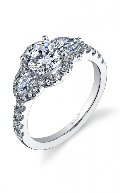 Sylvie Three Stone Engagement ring S1062S-95APL10R product image