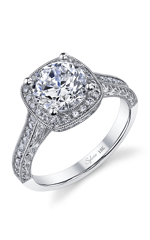 Sylvie Halo Engagement ring SY970-053APL15R product image