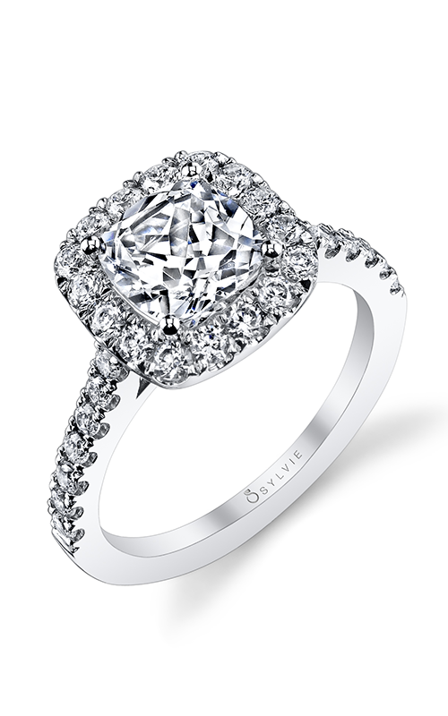 Sylvie Halo Engagement ring S1199-072A4W15C product image