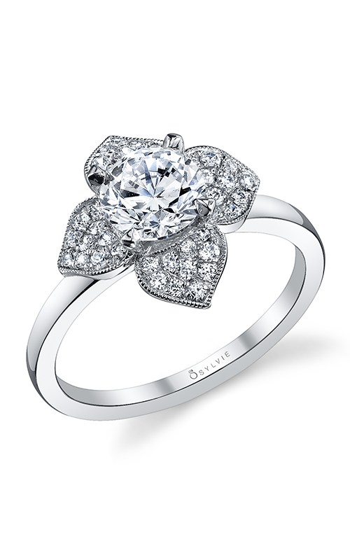 Sylvie Halo Engagement ring S1089-029APL10R product image