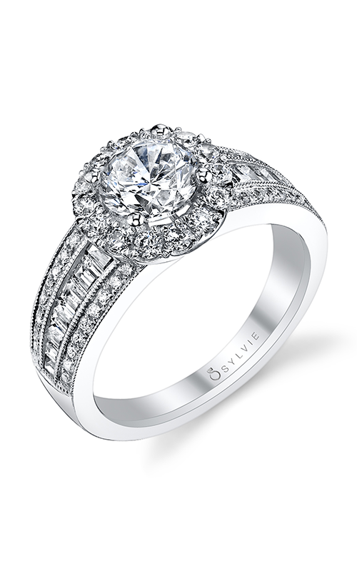 Sylvie Halo Engagement ring S1139-114A4W10R product image