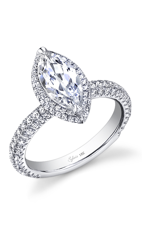 Sylvie Halo Engagement ring SY611-0105/A4W product image