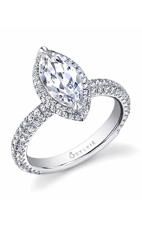 Sylvie Halo Engagement ring SY611-0105/APL product image