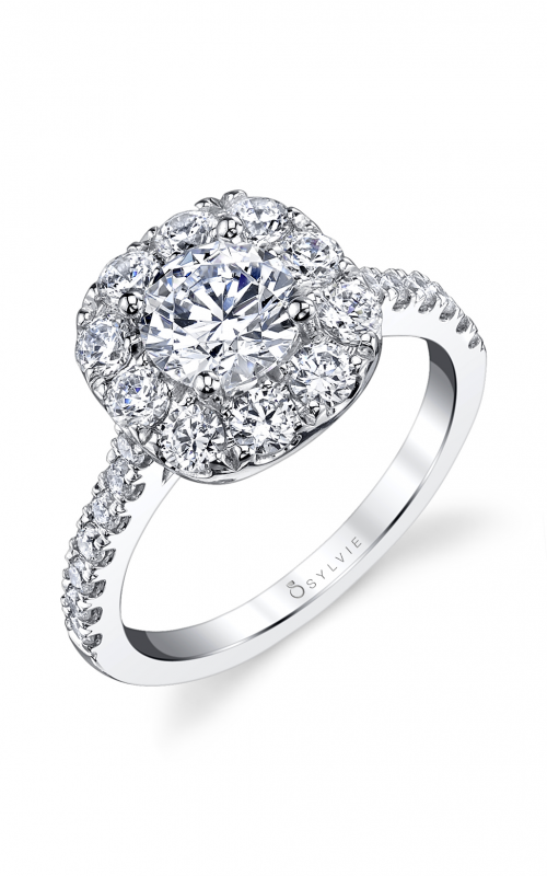Sylvie Halo Engagement ring S1299-105A4W10RC product image