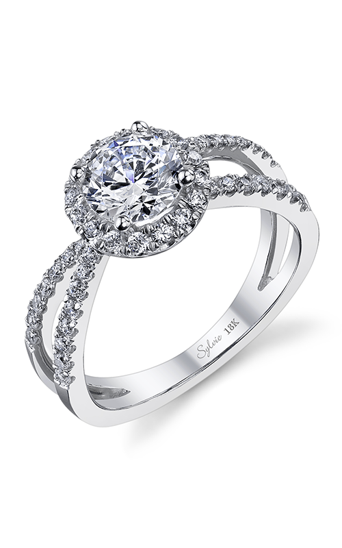 Sylvie Halo Engagement ring SY971-042A4W10R product image