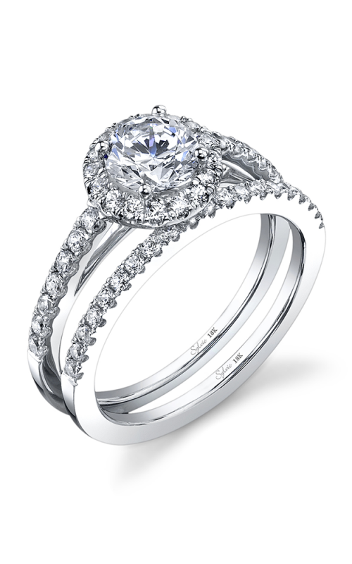 Sylvie Halo Engagement ring SY686-0042/A4W product image