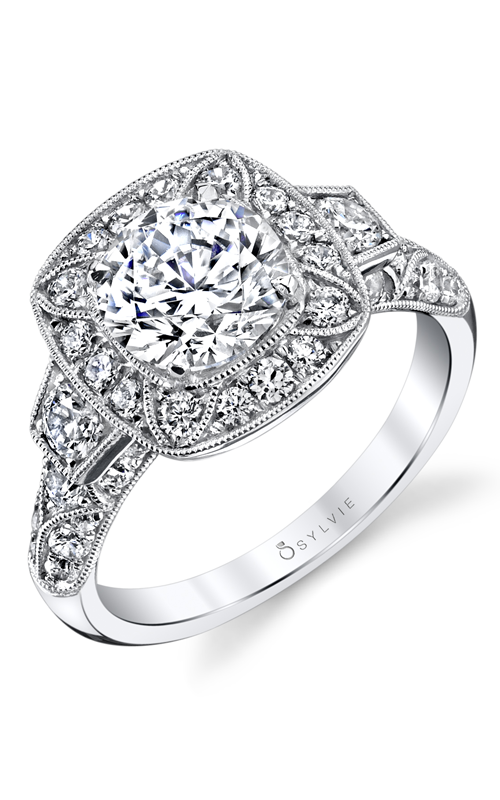 Sylvie Halo Engagement ring S1356S-111A4W15R product image