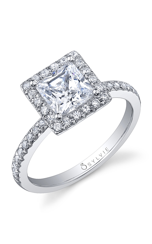 Sylvie Halo Engagement ring S1008-028APL10P product image