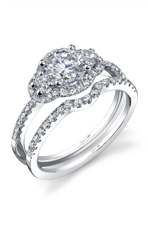 Sylvie Three Stone Engagement ring SY693S-0048/A4W product image