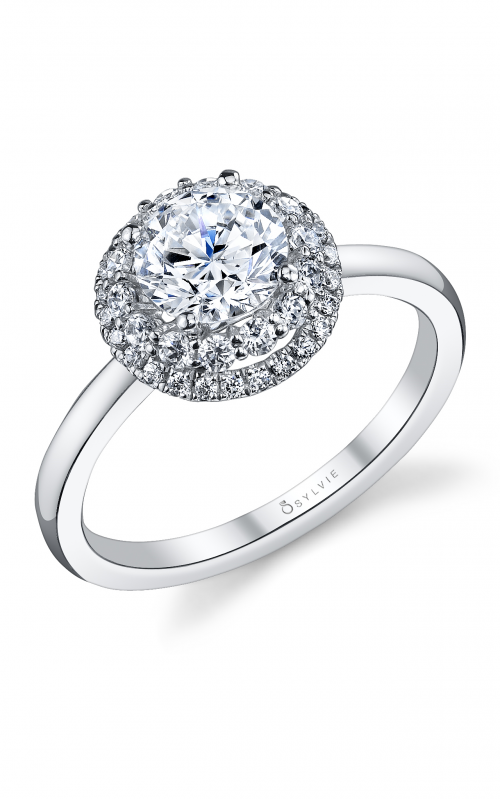 Sylvie Halo Engagement ring S1080-037A8W10R product image