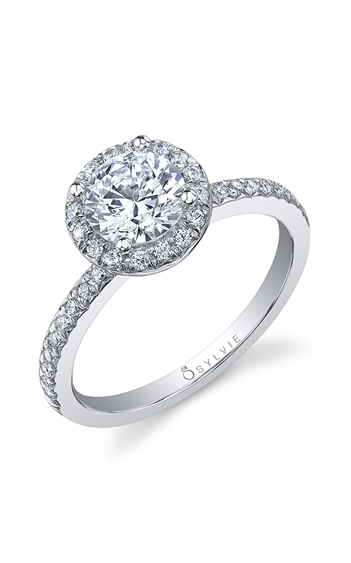 Sylvie Halo Engagement ring S1008-025A8W10R product image