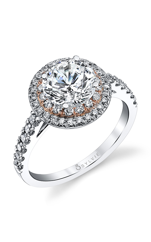 Sylvie Halo Engagement ring S4100-055A4K10R product image